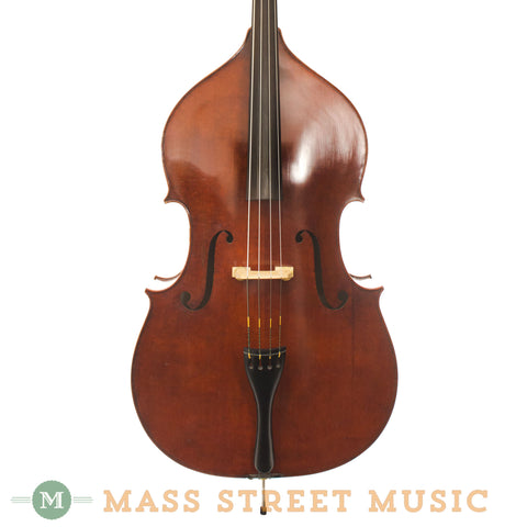 Carved Top Upright Bass - front close