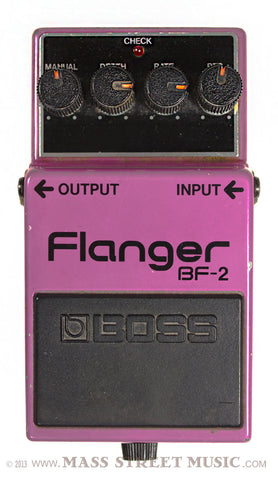BOSS BF-2 Flanger Pedal USED - Top