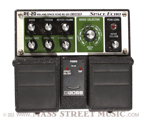 Boss RE-20 Space Echo Pedal - Top