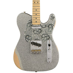 Fender - Brad Paisley Road Worn Telecaster - Silver Sparkle - Front Close