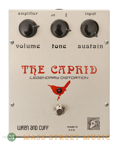 Wren and Cuff Caprid Fuzz Pedal - front