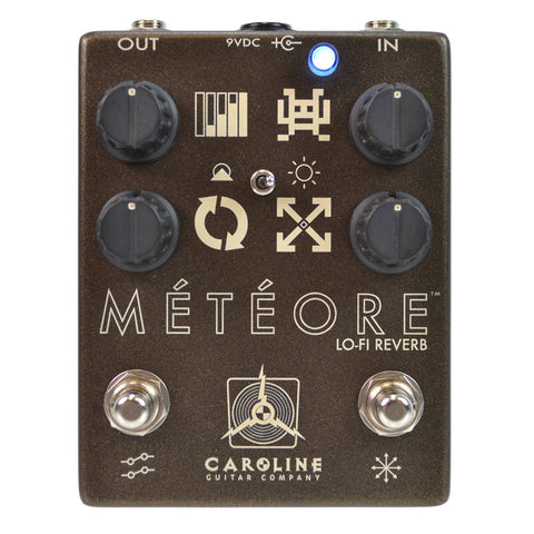 Caroline Meteore Low-Fi Reverb Pedal - front stock