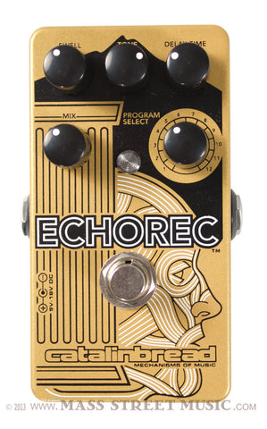 Catalinbread Echorec pedal - top