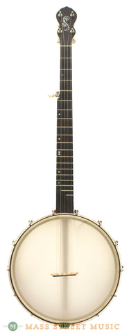 "Chuck Lee Tubaphone Open-Back 12"" Used Banjo - front"