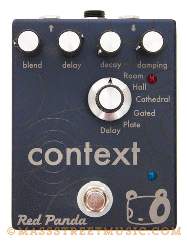Red Panda Context Delay/Reverb Guitar Pedal Used - top