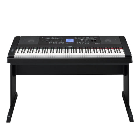 Yamaha Keyboards - DGX660B Digital Piano - Front Stand