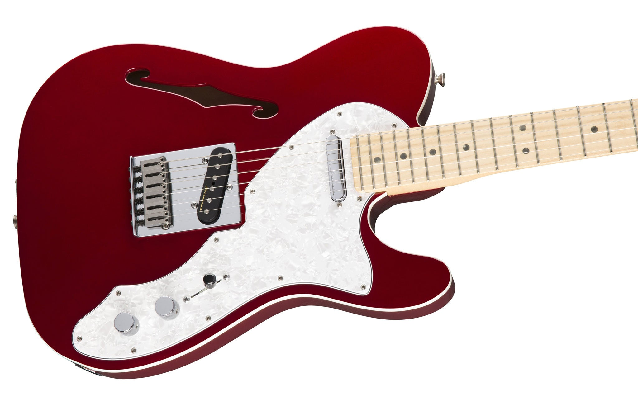 fender deluxe thinline telecaster candy apple red mass street music store. Black Bedroom Furniture Sets. Home Design Ideas