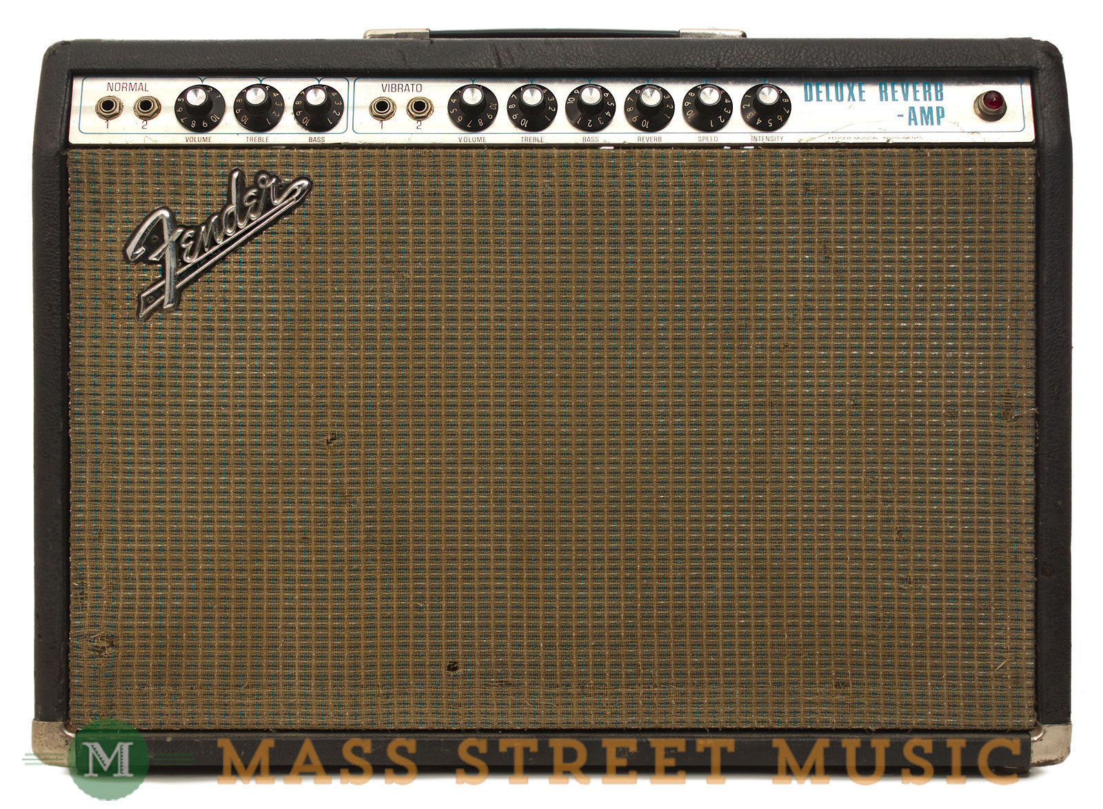 fender deluxe reverb silver panel 1970 combo amp mass street music store. Black Bedroom Furniture Sets. Home Design Ideas