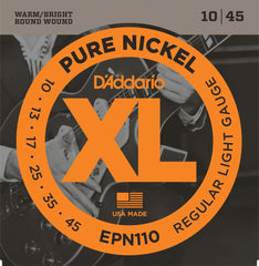 D'Addario EPN110 Pure Nickel 10-45 Electric Strings