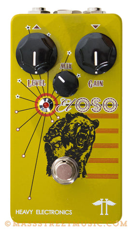 Heavy Electronics El Oso Bass Distortion Pedal - top