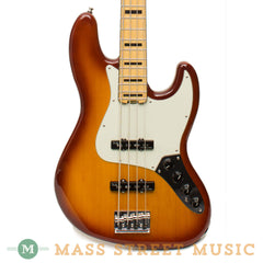 Fender American Elite Jazz Bass - Tobacco Burst - Front Close