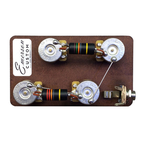 Emerson Custom Les Paul Short Shaft Prewired Kit (500K Pots / 0.022uf/0.015uf Bumblebee's) - Front
