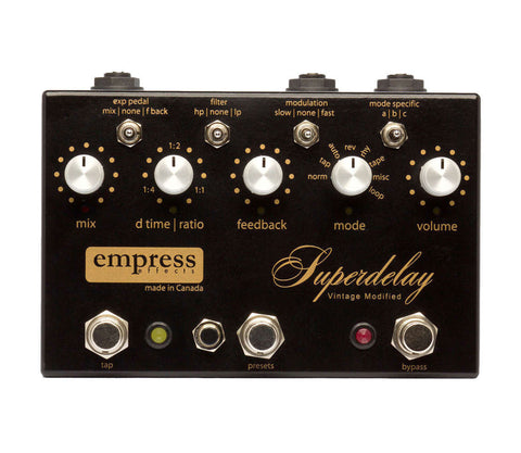 Empress Effects Vintage Modified Superdelay Pedal