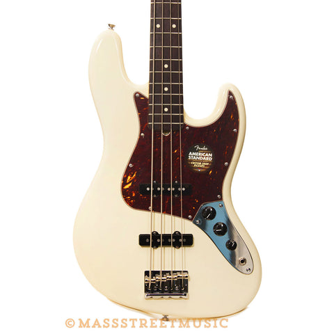 Fender American Standard Jazz Bass Olympic White - front close
