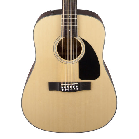 Fender CD-100 12-String Acoustic Guitar - front close stock