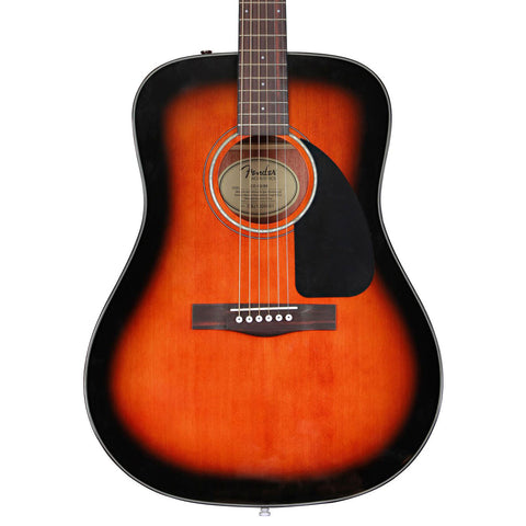 Fender CD-60 Sunburst Acoustic Guitar - front stock