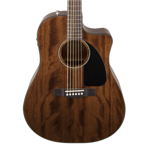 Fender CD-60 CE Mahogany Acoustic Guitar - front close stock