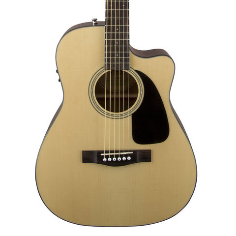 Fender CF-60CE Acoustic Guitar - front close stock