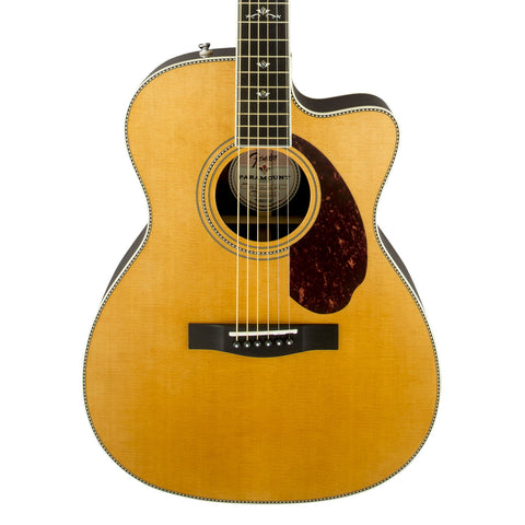 Fender PM-3 Deluxe 000 Paramount Series Acoustic Guitar - front close stock