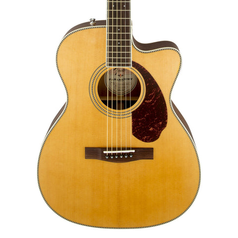 Fender PM-3 Standard 000 Paramount Acoustic Guitar - front close stock