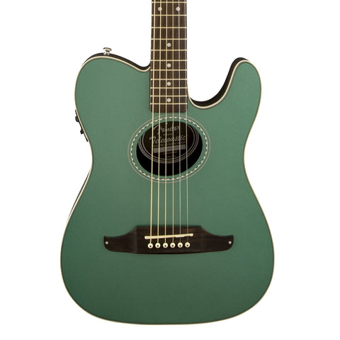 Fender Telecoustic Plus Acoustic-Electric Guitar - front close stock