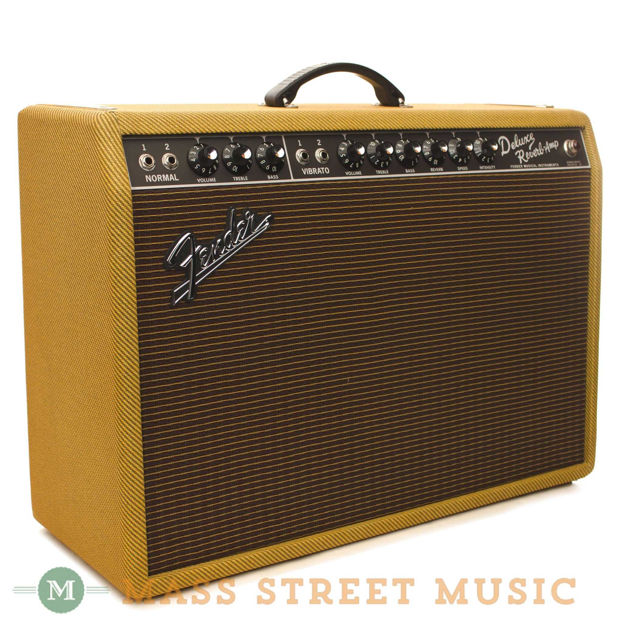 fender 39 65 deluxe reverb lacquered tweed fsr mass street music store. Black Bedroom Furniture Sets. Home Design Ideas