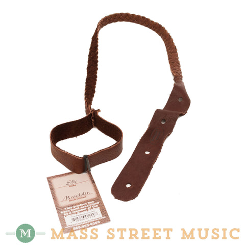 Lakota Leathers - Flat Braid Elk Mandolin Strap - Chocolate