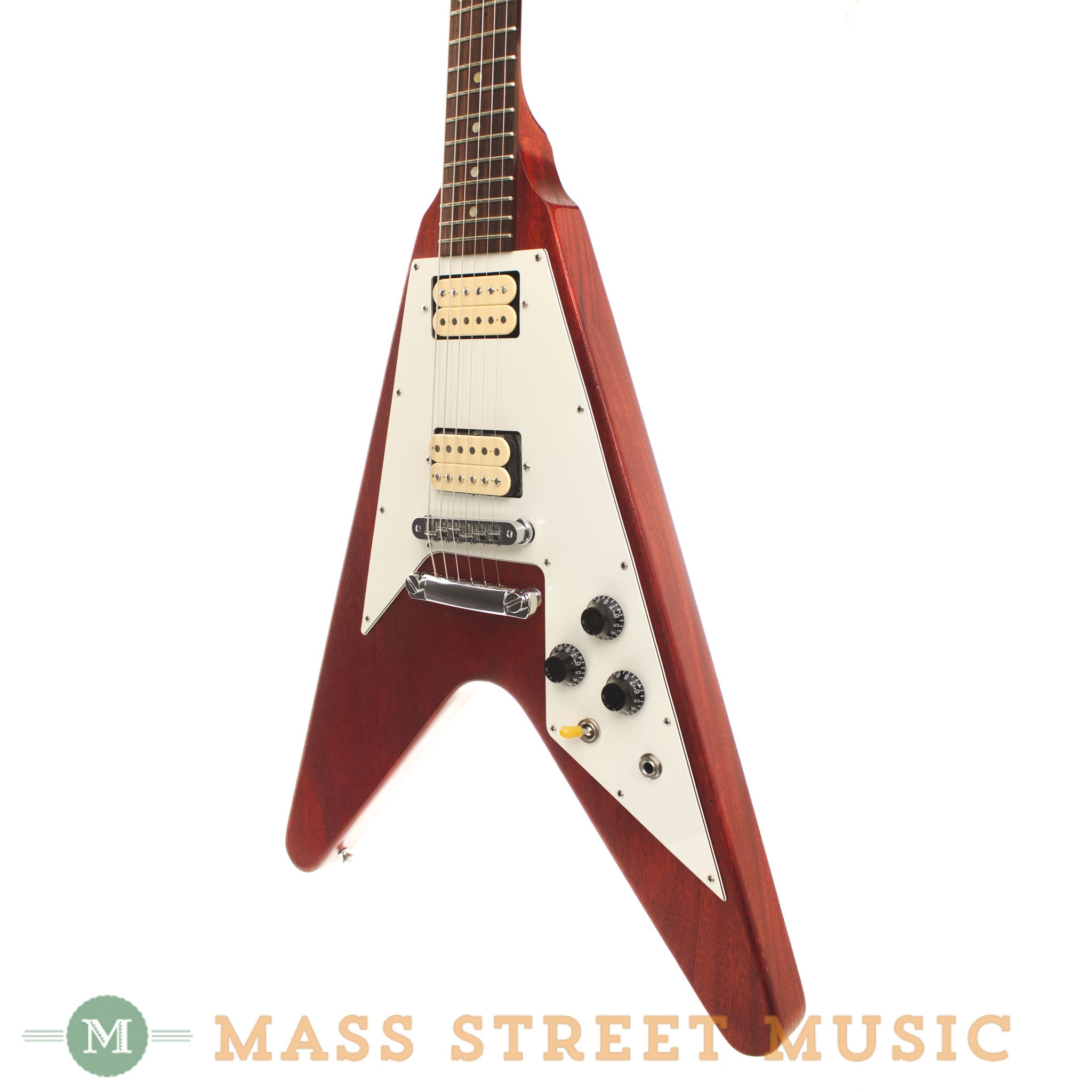 gibson flying v worn cherry 2007 used electric guitar mass street music store. Black Bedroom Furniture Sets. Home Design Ideas