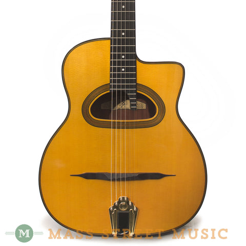 Gitane D-500 Grand Bouche Gypsy Jazz Acoustic Guitar - front close