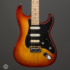 GJ2 Guitars - Glendora NLT -  HSS - Cherry Sunburst - Birdseye Maple Neck - Used - Front Close