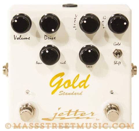 Jetter Gold Standard Distortion Guitar Pedal - front