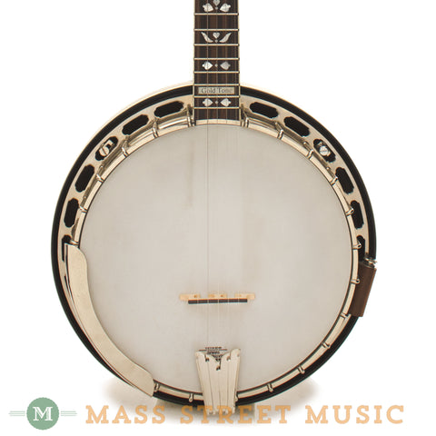 Gold Tone Orange Blossom Long Neck Resonator Banjo Used - front close