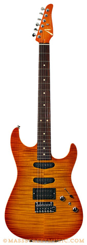 Tom Anderon Hollow Drop Top Amber Burst Electric Guitar - front