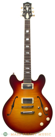 Collings I-35 LC Deluxe Dark Cherry Burst Electric Semi-Hollow Guitar - front