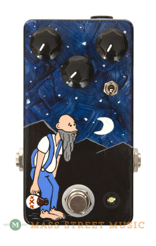 JHS Moonshine Overdrive pedal handpainted hillbilly - front