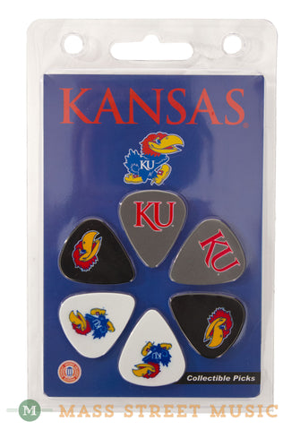 College Guitars Kansas Jayhawk Guitar Pick Pack - front