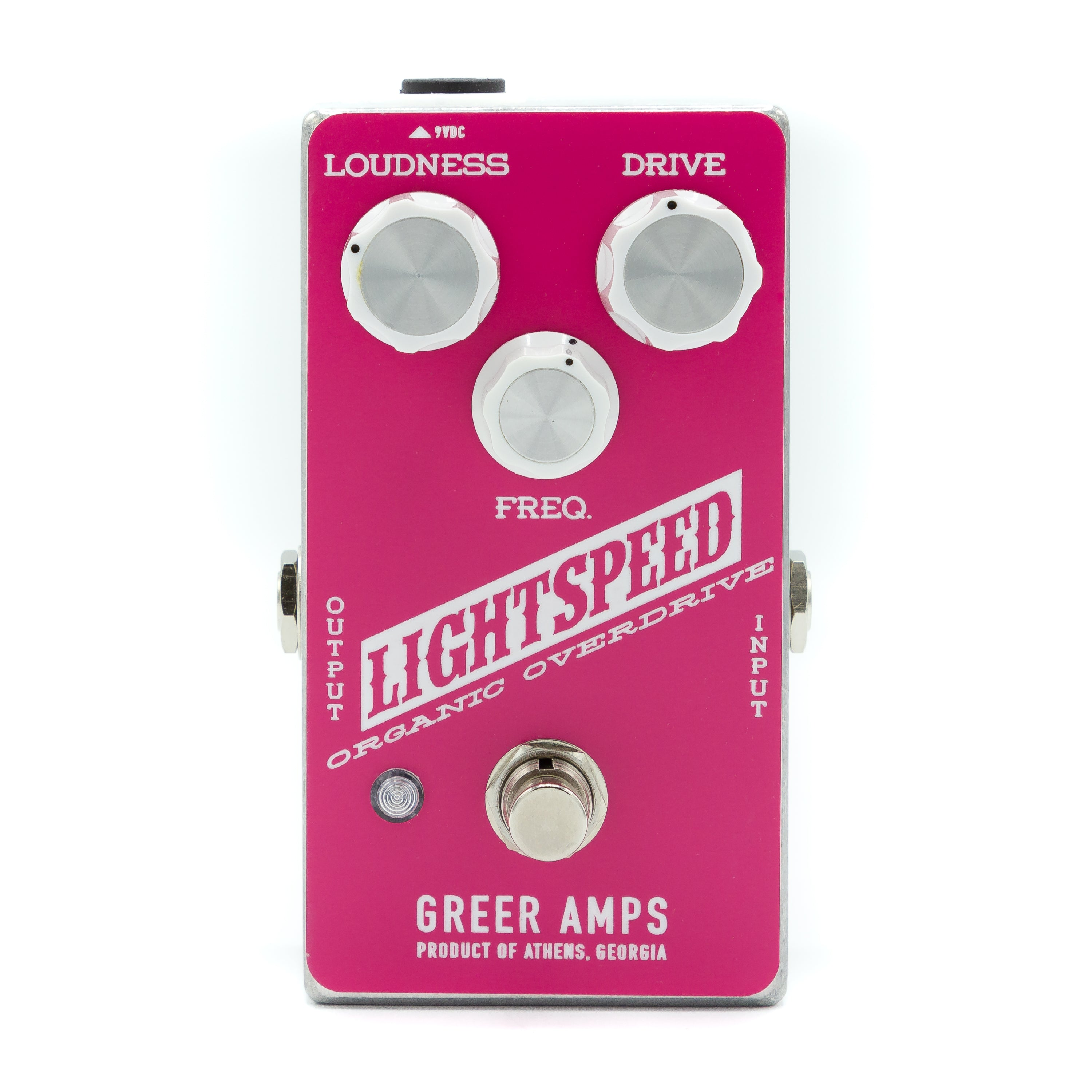 Greer Amps - Lightspeed Organic Overdrive Pink and White