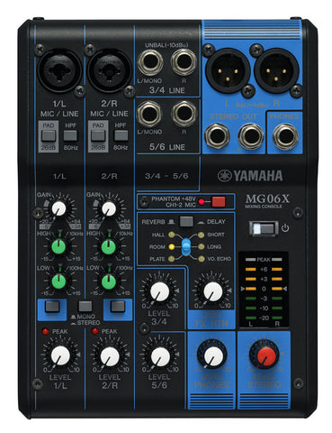 Yamaha MG06X Mixer with FX - front stock