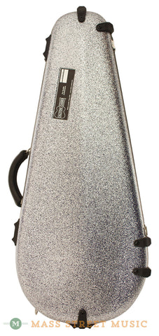 Calton A/F Mandolin Case with Silver Sparkle and Blue Interior - front