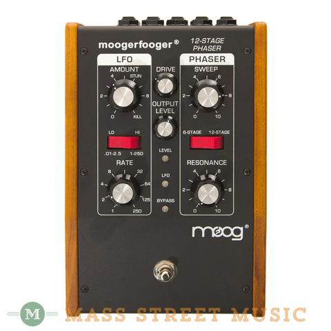 Moog MF-103 12-Stage Phaser Pedal - front