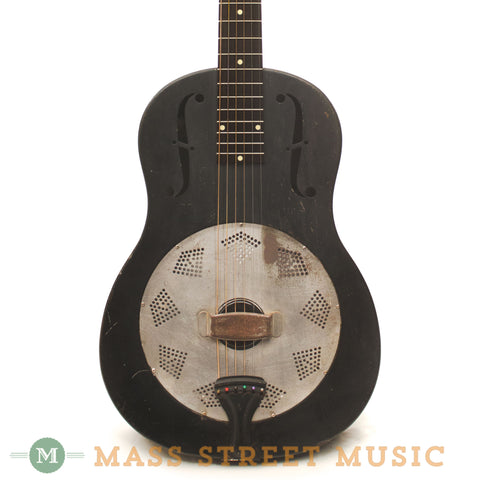 National 1931 Duolian Round Neck Resonator Guitar - front close