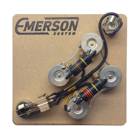 Emerson Custom SG Prewired Kit (500K Pots / 0.022uf/0.015uf Bumblebees) - Front