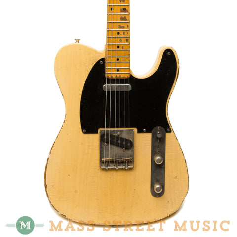 Seuf Electric Guitars  - OH-20 Blonde - Black Guard - Front Close