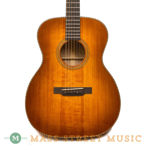 Leo Posch Acoustic Guitars - Deep Body OM Full Sunburst - Front