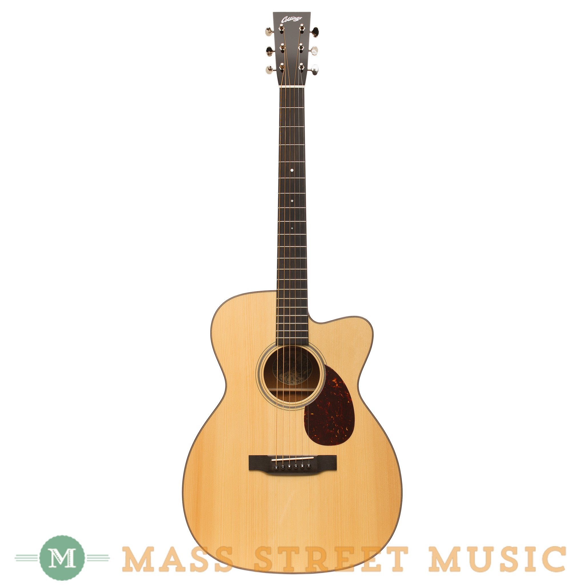 collings om1a cutaway acoustic guitar with case mass street music store. Black Bedroom Furniture Sets. Home Design Ideas