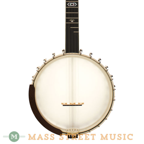 "Ome Trilogy 11"" Tubaphone Open-Back Banjo - front close"