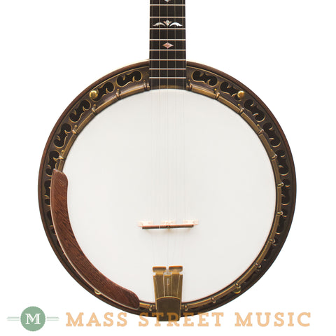 Ome Juniper Megatone Bluegrass Resonator Banjo - front close