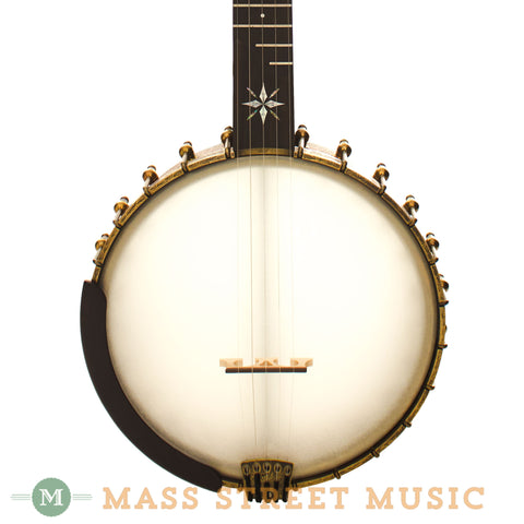 "Ome Used North Star 11"" Tubaphone Open-Back Banjo - front close"