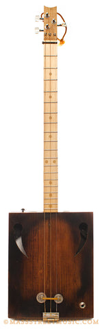 Kelly's Pine Wood Cigar Box Guitar - front