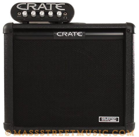 Crate Power Block Amp Head and 1x12 Cab - stacked